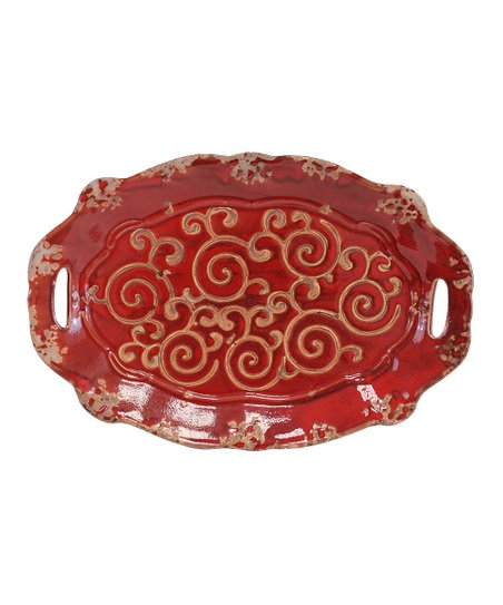 Red Ceramic Tray