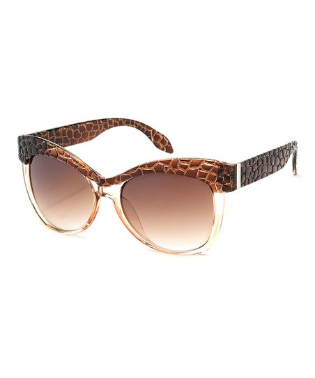 Brown Crocodile Rodeo Sunglasses
