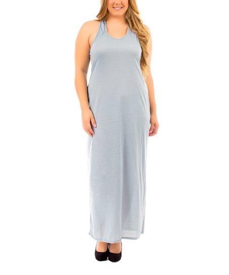 Sky Blue Racerback Maxi Dress - Plus