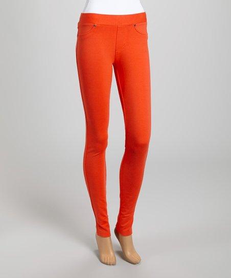 Orange Classic Jeggings