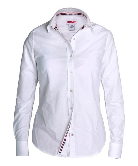 White Oxford Button-Up