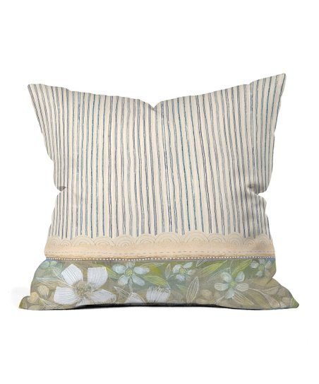 Blue & White Stripe Cori Dantini Throw Pillow
