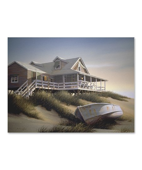 Beach at Dawn Gallery-Wrapped Canvas
