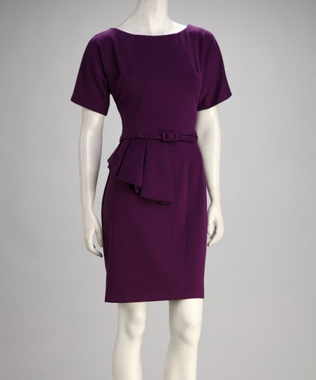Blackberry Faux Peplum Dress
