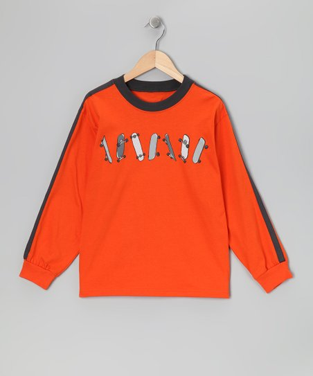 Adobe Orange Skateboard Tee - Boys