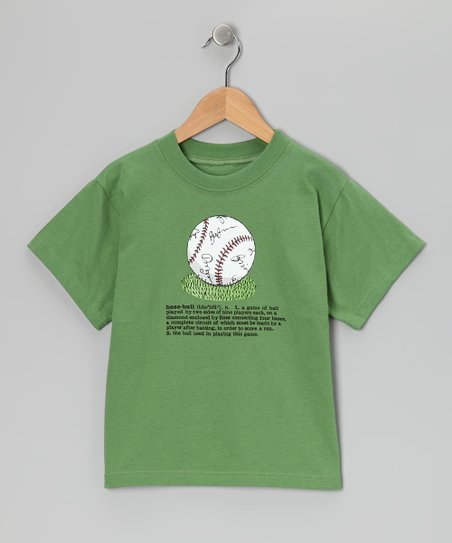 Grass Green &#039;Baseball&#039; Definition Tee - Boys
