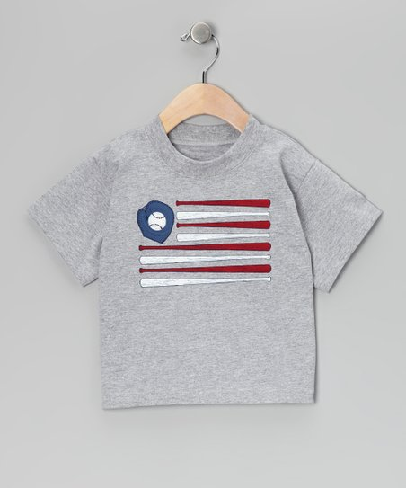 Gray Baseball Flag Tee - Infant & Boys