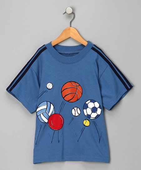 Blue Bouncing Ball Tee - Boys