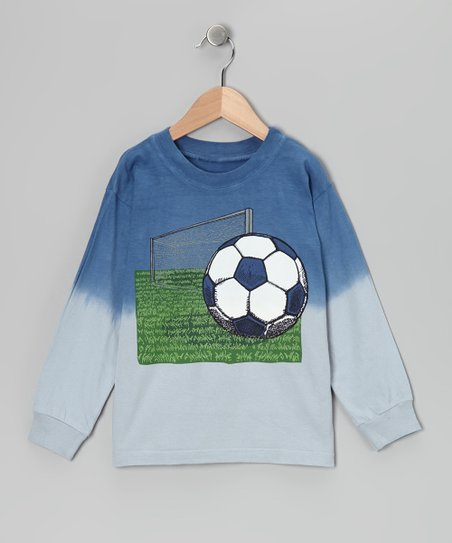 Blue & Gray Soccer Field Tee - Boys