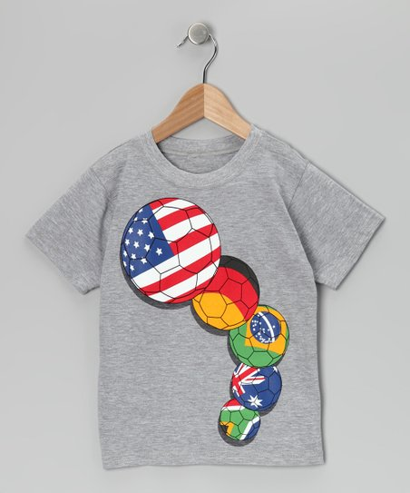 Gray World Soccer Tee - Toddler &amp; Boys
