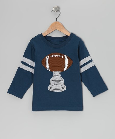 Ink Blue Football Trophy Tee - Toddler & Boys