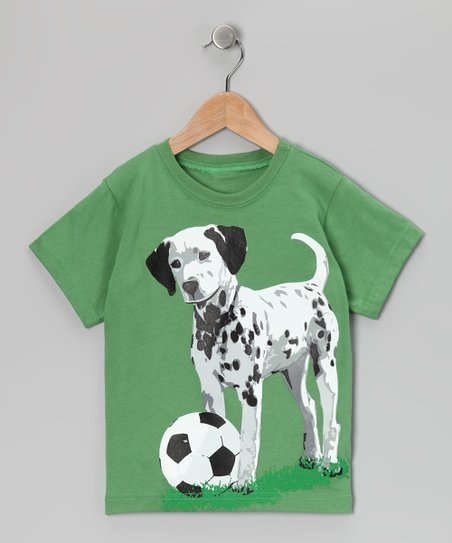 Grass Green Soccer Dog Tee - Toddler & Boys