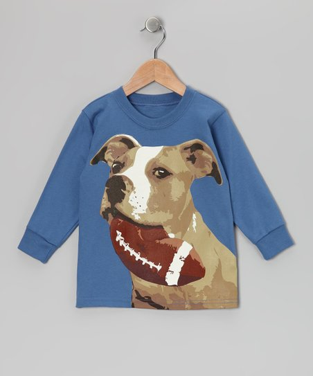Captain Blue Football Dog Tee - Toddler & Boys