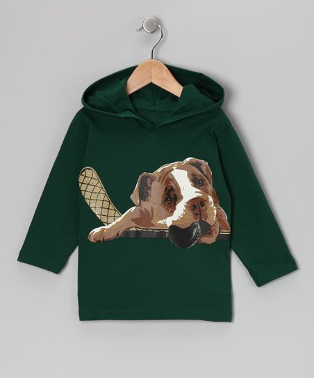 Evergreen Hockey Dog Hoodie - Toddler & Boys