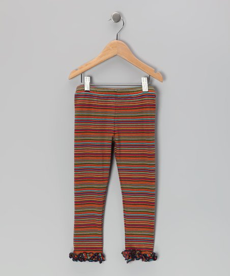 Rainbow Stripe Ruffle Leggings - Infant, Toddler & Girls