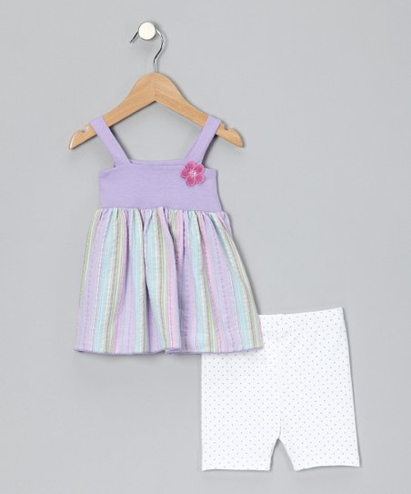 Lavender Stripe Tunic & Shorts - Infant & Toddler