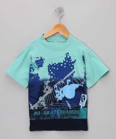 Palm & Navy Skateboarder Tee - Toddler & Boys