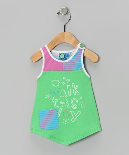 Poison Green 'Walk This Way' Tank - Infant