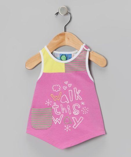 Super Pink &#039;Walk This Way&#039; Tank - Infant