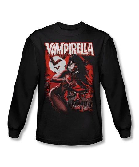 Black 'Vampirella' Long-Sleeve Tee - Men