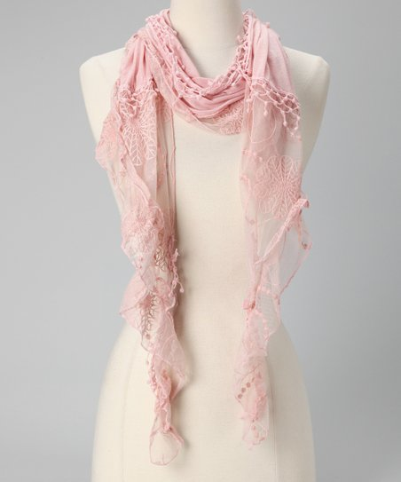 Tickled Pink Light Pink Fringe Scarf