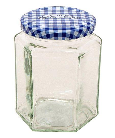 Hexagon 9.5-Oz. Jar - Set of 12