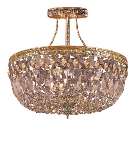 Golden Teak Richmon Semi-Flush Chandelier