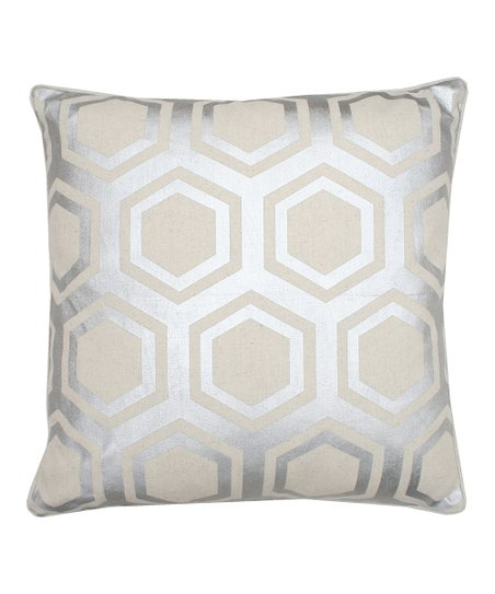 Natural Silver Shirley Foil Pillow
