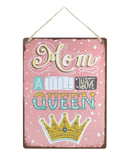 'A Title Just Above Queen' Wanderlust Wall Sign