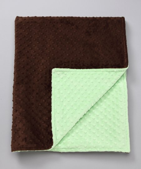 Lime & Brown Minky Toddler Blanket