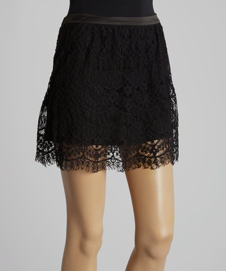 Black Lace Miniskirt
