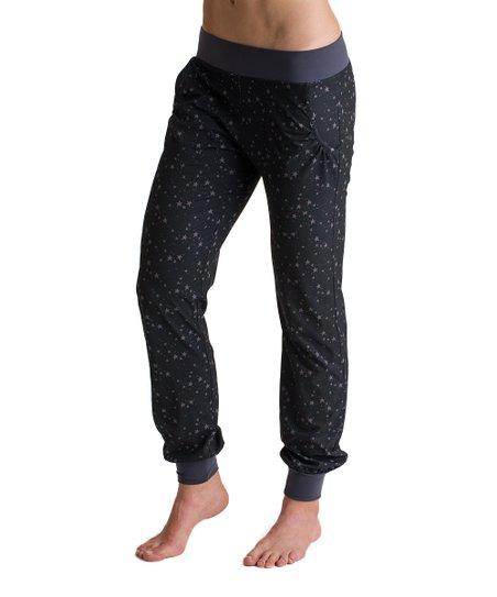 Black Stars Woven Pants