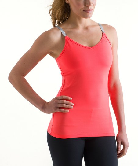 Neon Orange Yoga Camisole