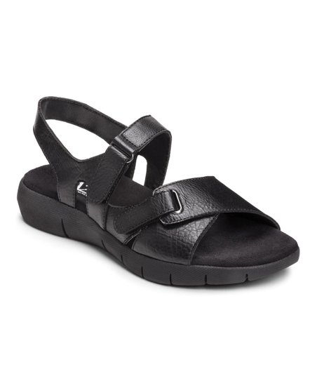 Black Wip Up Sandal