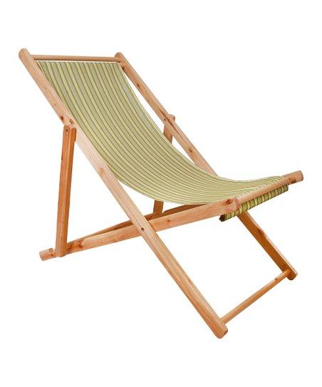 Green Stripe Deck Chair