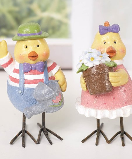 Standing Easter Chick Figurine Set