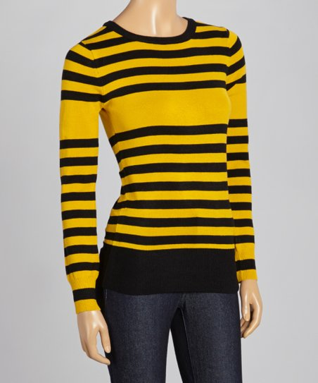 Black & Honey Stripe Bumble Bee Sweater