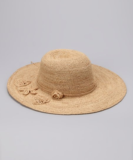 Natural Starfish Raffia Sunhat