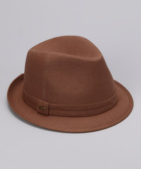 Walnut Solid Fedora