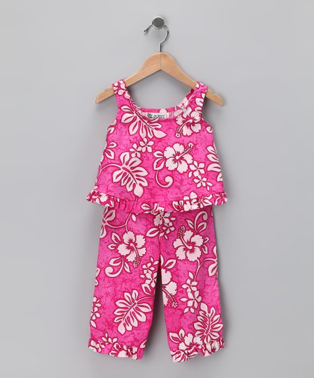 Pink Hibiscus Tank & Pants - Infant & Toddler