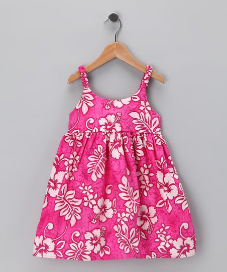 Pink Hibiscus Dress - Infant & Toddler