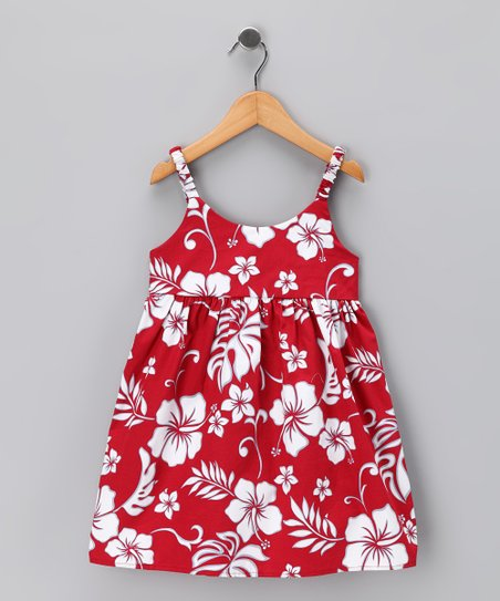Red Hibiscus Dress - Infant &amp; Toddler