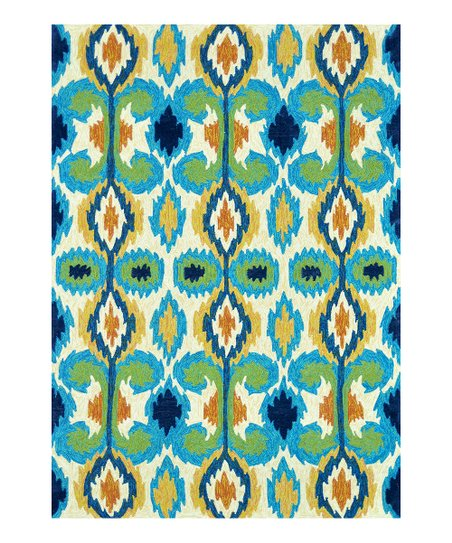 Ivory & Blue Enzo Indoor/Outdoor Rug