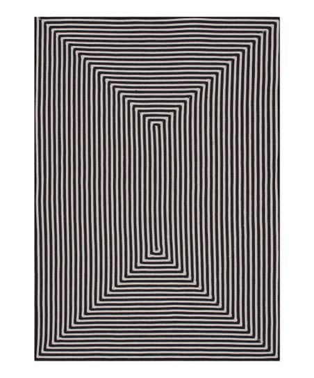 Black Stripe Indoor/Outdoor Rug