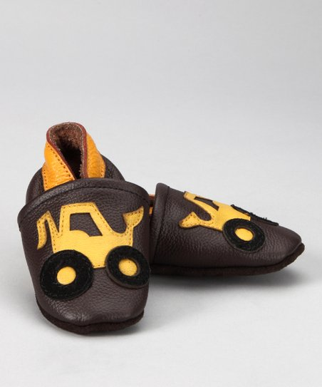 Brown & Yellow Truck Booties