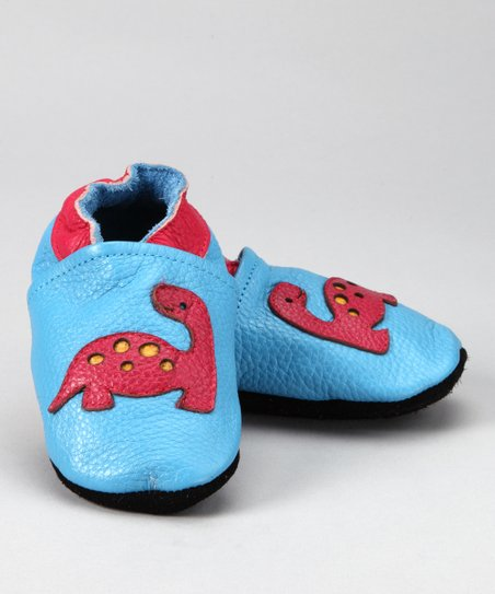 Light Blue & Magenta Dinosaur Booties