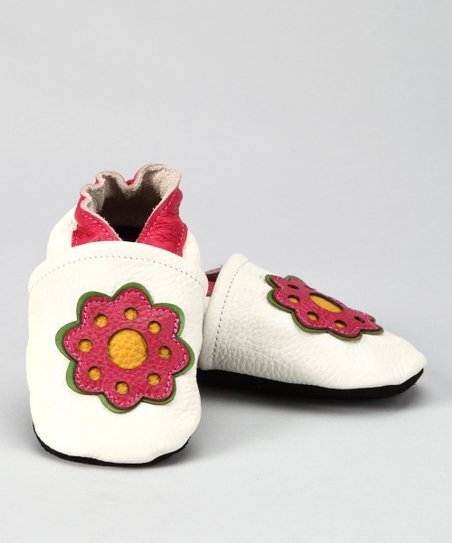 White Flower Booties