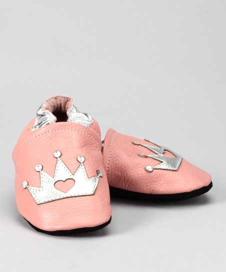 Pink & Silver Crown Booties