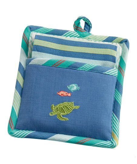 Sea Turtle Pot Holder & Dish Towel