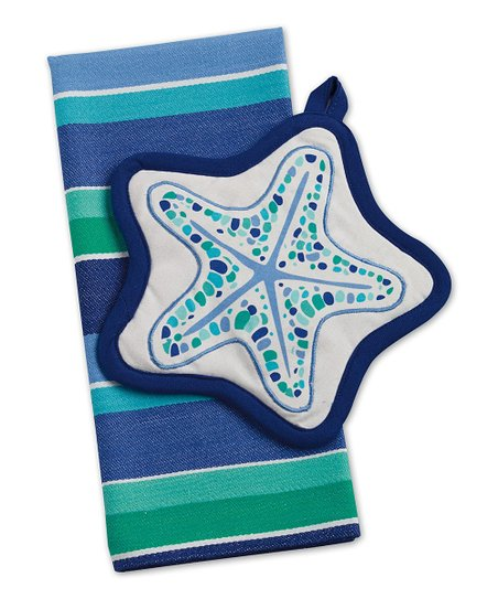 Sea Star Pot Holder & Dish Towel